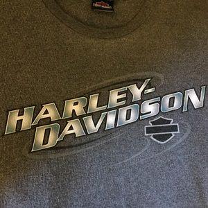 Harley-Davidson gray ribbed knit shirt Sz 2XL